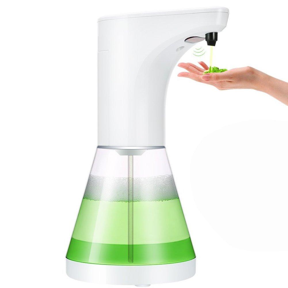 W-Unique automatico dispenser di sapone, capacità 520ml auto Dish dispenser di sapone liquido con sensore di movimento a mani libere per cucina e bagno (livello 5) di regolazione del volume