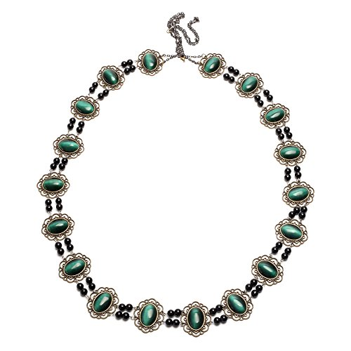 GRACEART Tudors Dynasty Necklace Chain of Office Livery Collar (Imperial Green) ()