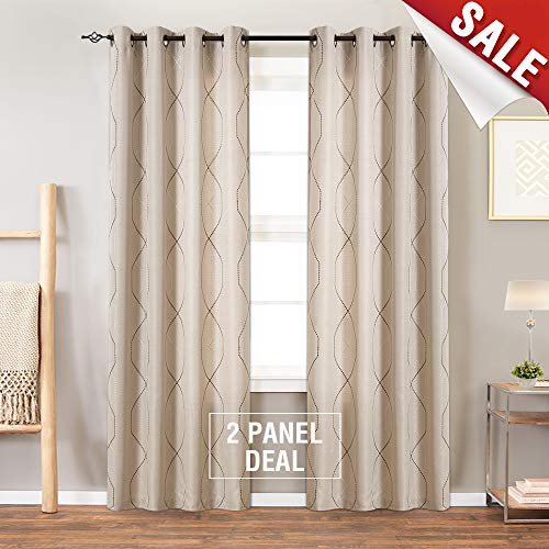 jinchan Sheer Embroidered Curtains for Living Room for sale  Delivered anywhere in USA