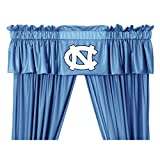 North Carolina Tar Heels 5 Pc Valance/Drape Set (Drapes Size 82 X 63) and Matching Wall Flag - Great Bedroom Matching Accessories for that Special Sports Fan!