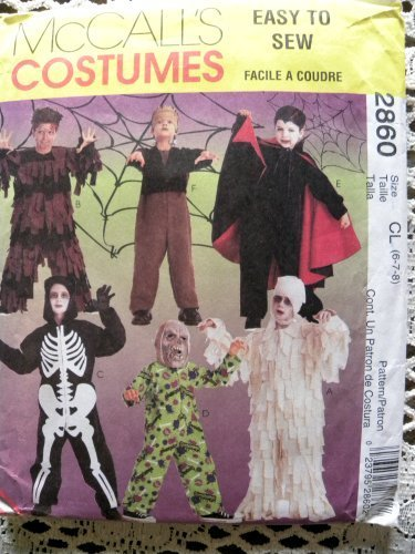 McCall's 2860 Childs Goose Bumps Scarry Costumes Sewing Pattern Size 6-7-8 ()