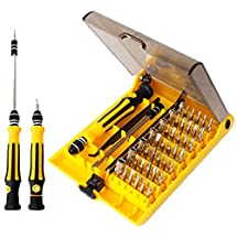 IDEAPRO 45 in 1 Mini Screwdriver Set, Repair Tool Kits, Torx Bit Tools Set, Small Precision Screwdriver Kit with Tweezers & Extension Shaft for Repair or Maintenance