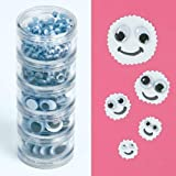 22mmm Baker Ross Jumbo Self-Adhesive Wiggle-Eyes For Childrens Craft Activities Pack of 100 Black /& White