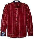 #5: LOCALMODE Men's 100% Cotton Long Sleeve Plaid Slim Fit Button Down Dress Shirt