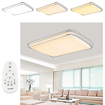 VINGO 96W LED Deckenleuchte Deckenlampen Wand Kchenleuchte Innenleuchte Drahtlose Wohnzimmerlampe Dimmbar Mit Fernbedienung