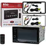 BOSS Audio Double DIN 2DIN BV9364B 6.2 Touchscreen Car stereo MP3 CD DVD player Bluetooth USB with DCO Full License plate Night vision waterproof back-up camera (Optional Color)