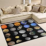 ALAZA Fantasy Planet Solar System Galaxy Area Rug Rugs for Living Room Bedroom 7' x 5'