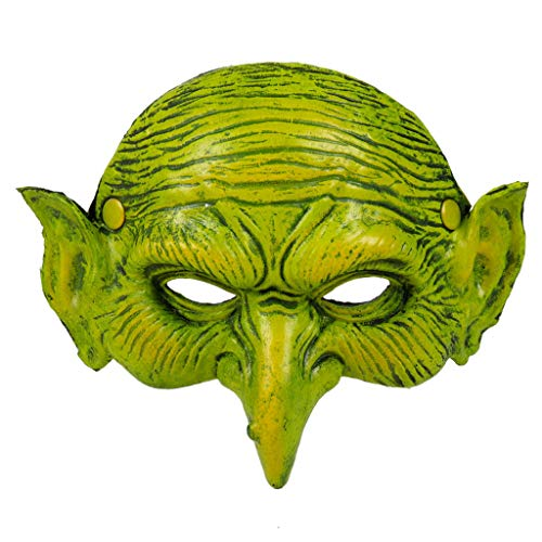 Switch Witch Costume (Halloween Animal Mask Ugly Witch Half Face Mask Plastic BPA Free Non-Toxic Funny Masquerade Costume Mask Dress up for Adult Men Womens Spooky Halloween)