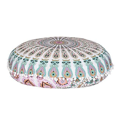 Mandala Floor Pillow Meditation Cushion Seating Throw Cover Hippie Decorative Bohemian Boho Indian by Labhanshi by Labhanshi
