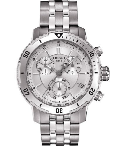 T0674171103100 Watch Tissot Men's PRS 200 Stainless steel case, Stainless steel bracelet, Silver dial, Quartz movement, Scratch resistant sapphire, Water resistant up to 20 ATM - 200 meters - 660 feet -  0098330098461