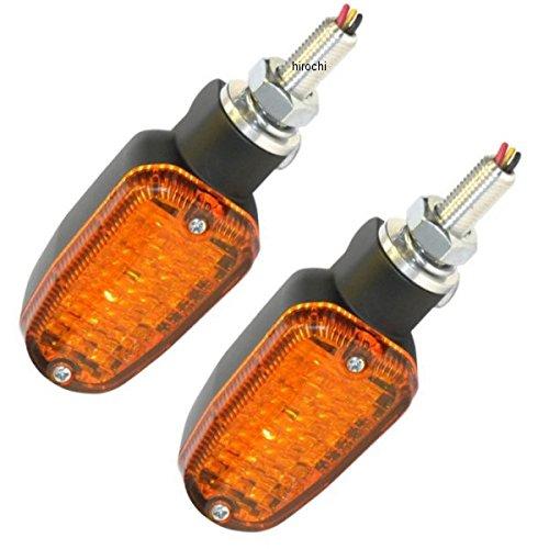K&S ケーアンドエス ウインカー LED18個 アンバー (ダブル球) 黒 2020-0940 26-7701BK B01LXFWAQV