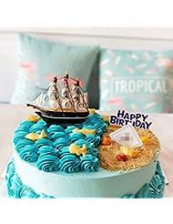 GEORLD Cake Decoration Sailboat Sea Tourism Theme