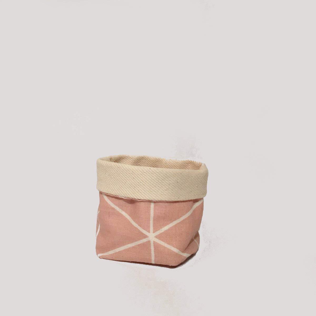 Handmade von Nuu Berlin I Aufbewahrungs-Box F/ür Bad Utensilo Rosa S I Stoff-K/örbchen Organizer Schlaf Und Kinder-Zimmer I 6 x 6 x 9 cm