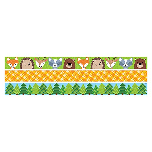 CREATIVE TEACHING PRESS WOODLAND FRIENDS MATCHING BORDER PK (Pine Border Tree)