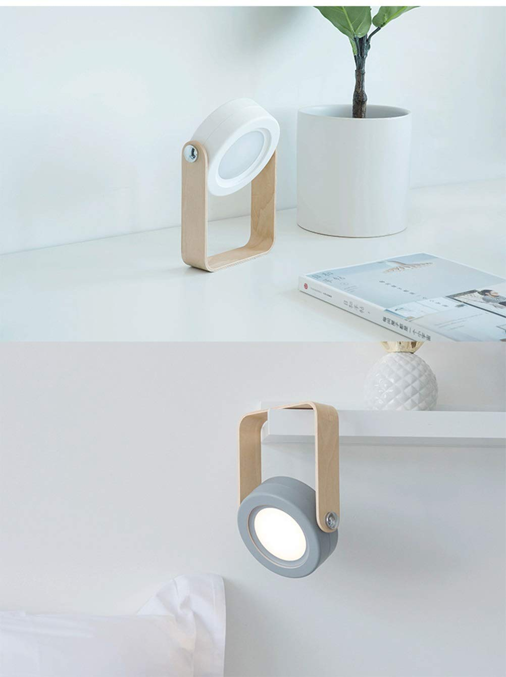 Amazon.com: PPWAN Table Lamp Creative Night Light Plug-in ...