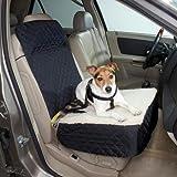 Snoozer Half Bench Lookout Perch Pet Car Seat, Khaki, My Pet Supplies