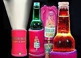 Cooler Torch Lighted Bottle Koozie. Make your drink Glow! The LED Flashlight Beverage Bottle Light. Choose your color & Quantity (1 Pink)