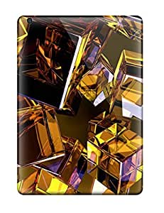 New Arrival Golden Cubes For Ipad Air Case Cover