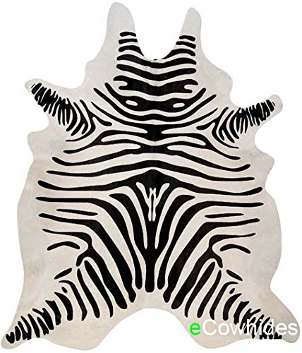 Used, ecowhides Zebra Brazilian Cowhide Area Rug, Cowskin for sale  Delivered anywhere in USA