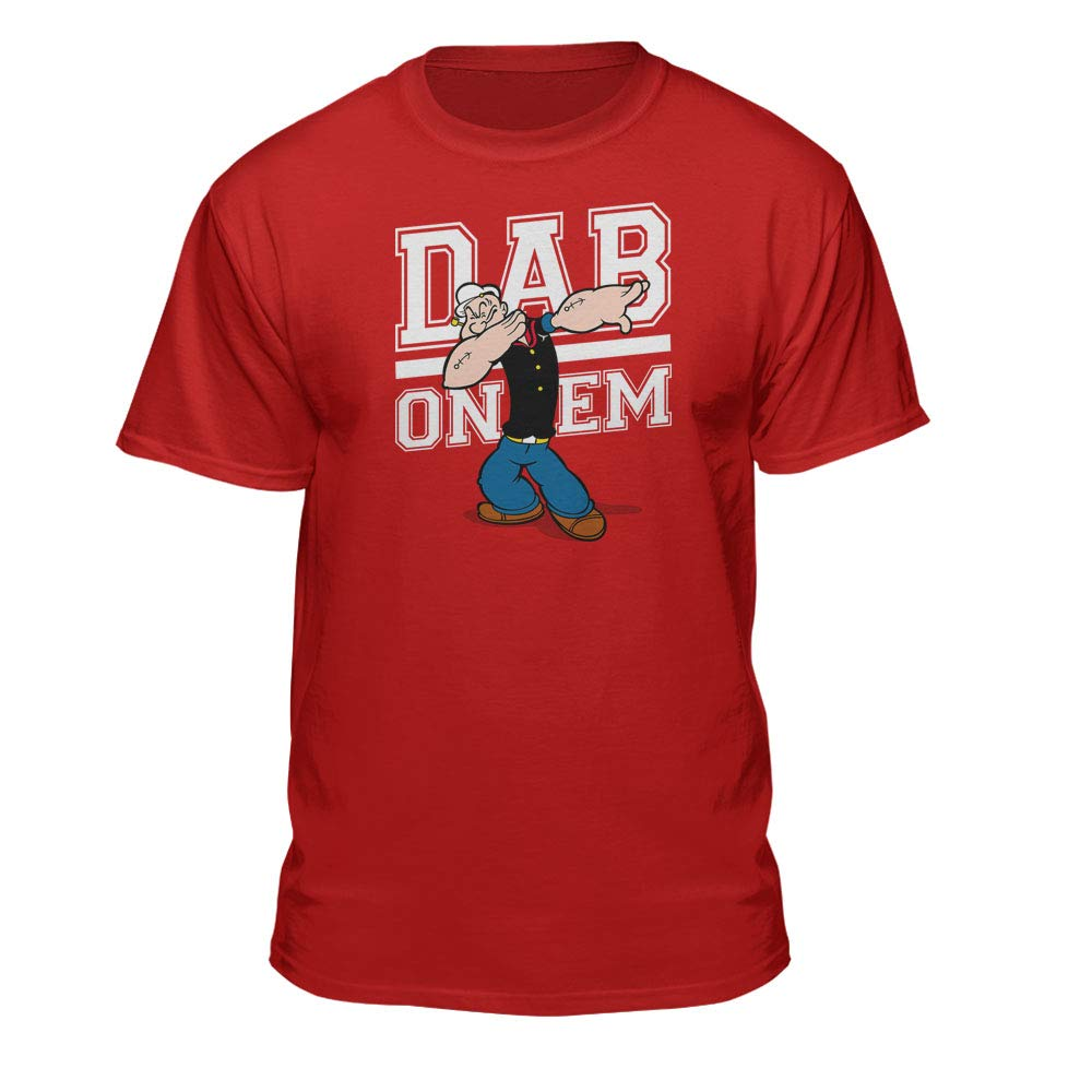 Popeye Dab On Em S Graphic Red T Shirt
