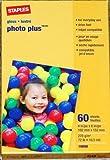 Staples Photo Plus Paper, 4' X 6', Gloss, 60/pack