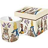 Paperproducts Design 603194 Party Snacks Gift Boxed Mug, 13.5 oz, Multicolor