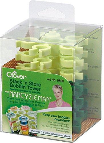 Clover Stack 'n Store Bobbin Tower with Nancy Zieman-3-1/2 X3-3/4 ()