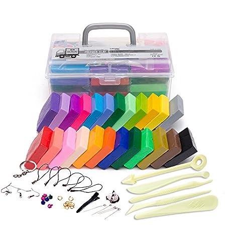 Liyuan 24 DIY Mixed Colores Polímero Arcilla Suave Arcilla de ...