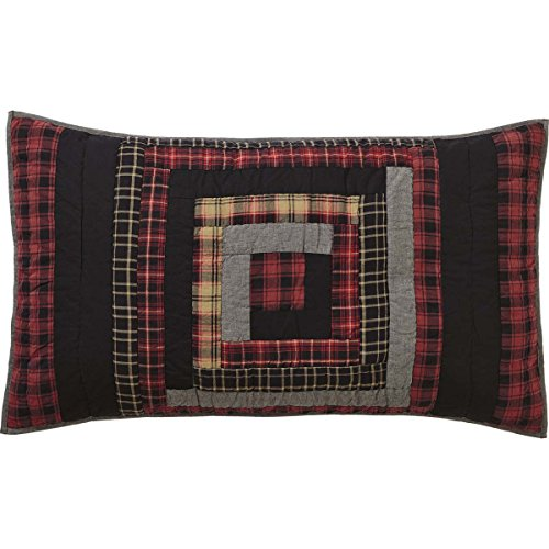 (VHC Brands Rustic & Lodge Bedding - Cumberland Red Sham, King, Chili Pepper)