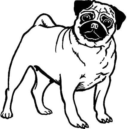 RS00010300 A7 Pug Dog Unmounted Rubber Stamp