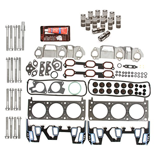 Evergreen HSHBLF8-10401 Lifter Replacement Kit Fits Chevrolet Oldsmobile Pontiac 3.1 3.4 OHV 12V Head Gasket Set, Head Bolts, Lifters (1999 Pontiac Grand Am Head Gasket Replacement)