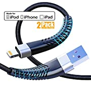 #LightningDeal [ Apple MFi Certified ] 2Pack 10ft iPhone Charger Cable, CABEPOW Long Lightning Cable 10 Foot, High Fast iPhone Charging Cable with Metal Connector for iPhone 11/11Pro/11Max/XS/XR/XS Max/8/7/6/5S/SE