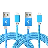 [2Pack] Micro-USB Cable,iBarbe Nylon Braided 5FT
