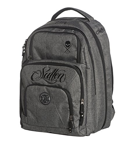 Sullen Blaq Paq Onyx Tattoo Travel Bag Gray Globe Edition by Sullen Clothing