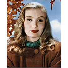 Veronica Lake 8 Inch x 10 Inch PHOTOGRAPH Sullivan's Trevels This Gun for Hire The Blue Dahlia Stunning Pic w/Fall Leaves kn