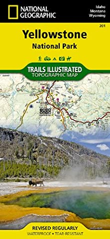 Yellowstone National Park (National Geographic Trails Illustrated Map) - Detail Map