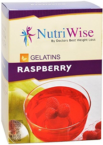(NutriWise - Raspberry High Protein Diet Gelatin (7/box) by NutriWise)