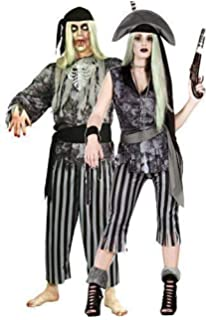 Couples Ladies AND Mens Red Posh Pirate Halloween Fancy Dress Costumes Outfits