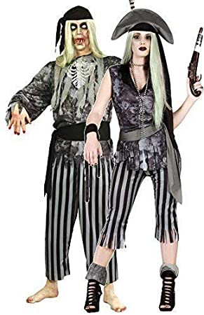 couples ladies and mens ghost dead zombie pirate halloween fancy dress costumes outfits size large