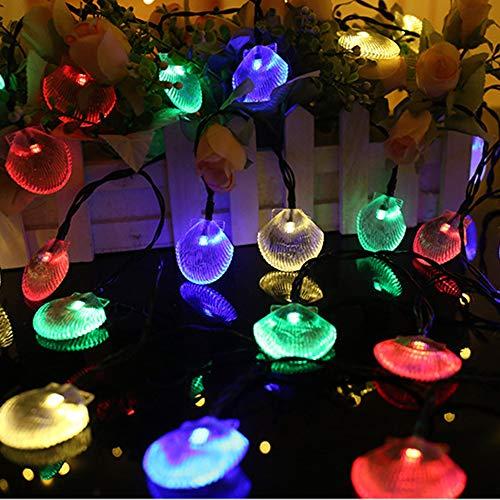 MOWASS Solar String Lights Outdoor,13ft 20 LED Christmas Decorative Lights for Halloween Holiday Wedding Garden Patio Party, IP64 Waterproof