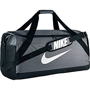 Nike Brasilia (Large) Training Duffel (Large, Flint Grey/Black/White)