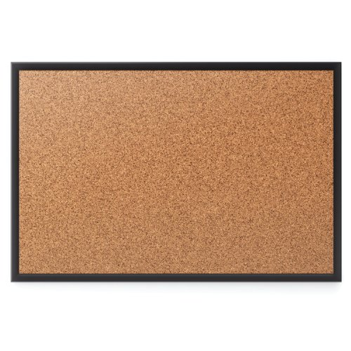 Quartet Cork Bulletin Board, 6 x 4 Feet, Black Frame (2307B)