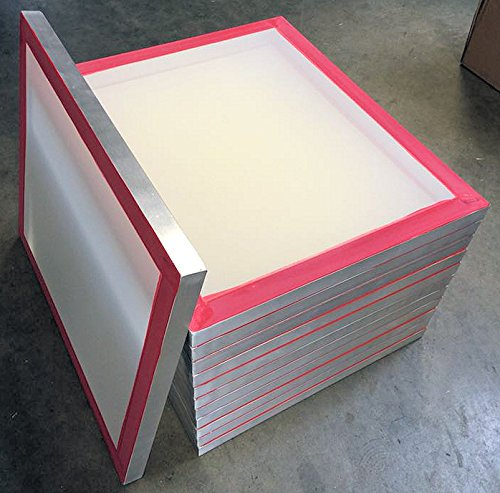 12-pack 20''x24'' Aluminum Silk Screen Printing Frames 160 tpi White Mesh by MSJ Screens