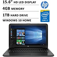 2016 Newest HP Premium High Performance 15.6-inch HD Laptop ( Intel Core i5-5200U Dual-Core 2.2 GHz, 4GB DDR3L, 1TB HDD, DVD RW, Webcam, WiFi, HDMI, USB 3.0, Windows 10)