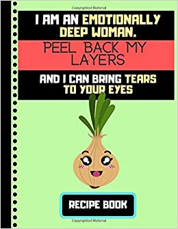 Buy Im An Emotionally Deep Woman Recipe Book Funny