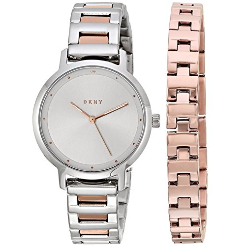 DKNY Women's 'The Modernist' Quartz Stainless Steel Casual Watch, Color:Silver-Toned (Model: NY2643)