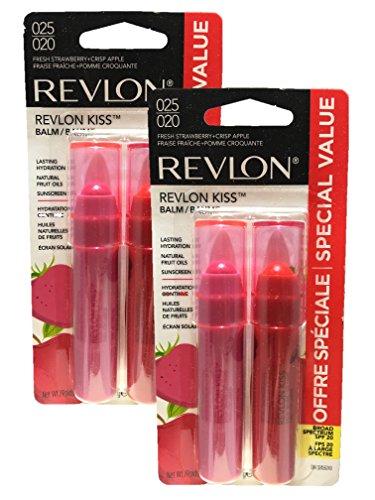 Revlon Fresh Lip Balm Strawberry & Crisp Apple (Pack of 2)