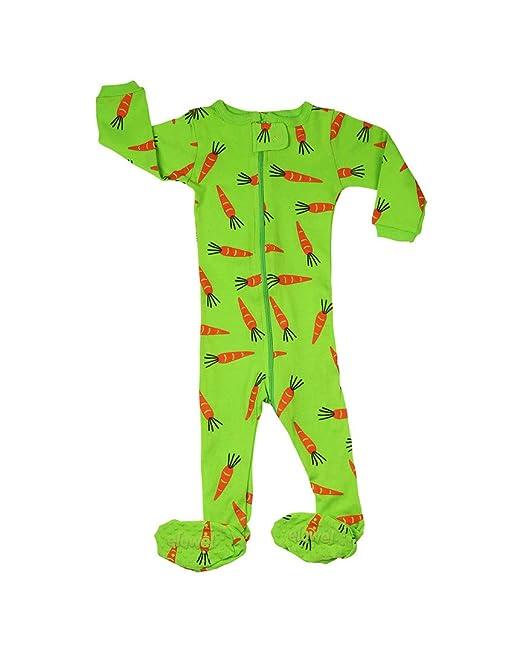 Pijama De 1 Pieza para Niñas con Suelas Y Diseño De Conejo Zanahoria 100% Algodón (6 Meses-5 Años): Amazon.es: Ropa y accesorios