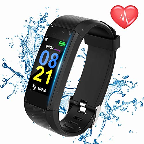 Swimmaxt Fitness Tracker Watch, Smart Fitness Band with Heart Rate Monitor, Waterproof Activity Tracker Watch with Step Counter, Calorie Counter, Pedometer Watch for Kids Women and Men (1)