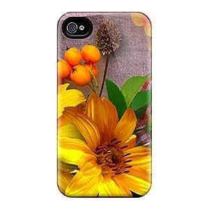 Excellent Design Shadow Of Autumn Phone Case For Iphone 4/4s Premium Tpu Case
